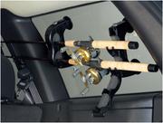 Крепление ИННО (INNO) для перевозки удочек в салоне автомобиля.