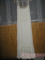Платье вечернее(свадебное), белое,  прямо