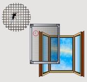 Москитные сетки оконные и дверные,  внутренние