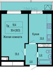 Продам 1 к квартиру 40 квметров